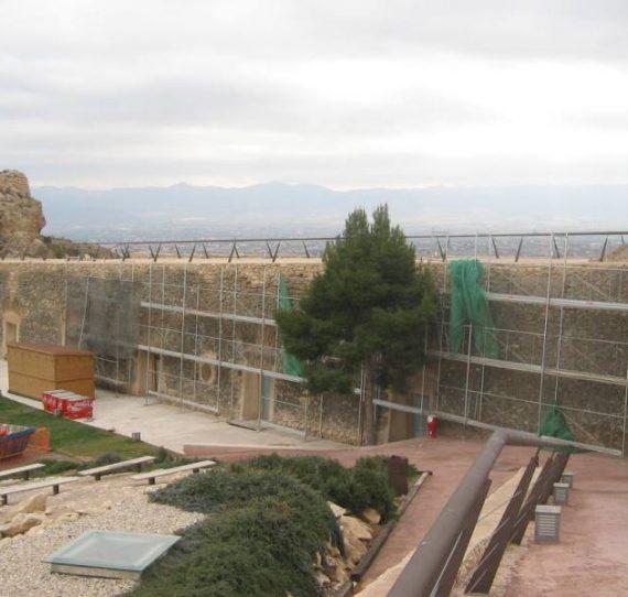 Restauración y consolidación en el Castillo de Lorca