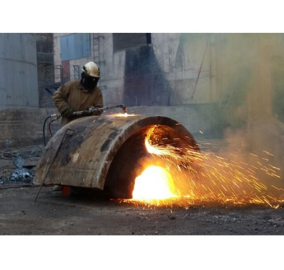 Demolición en fábrica de cemento en Yeles