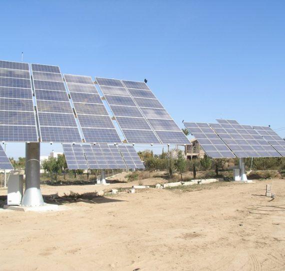 Instalación solar fotovoltaica con seguimiento
