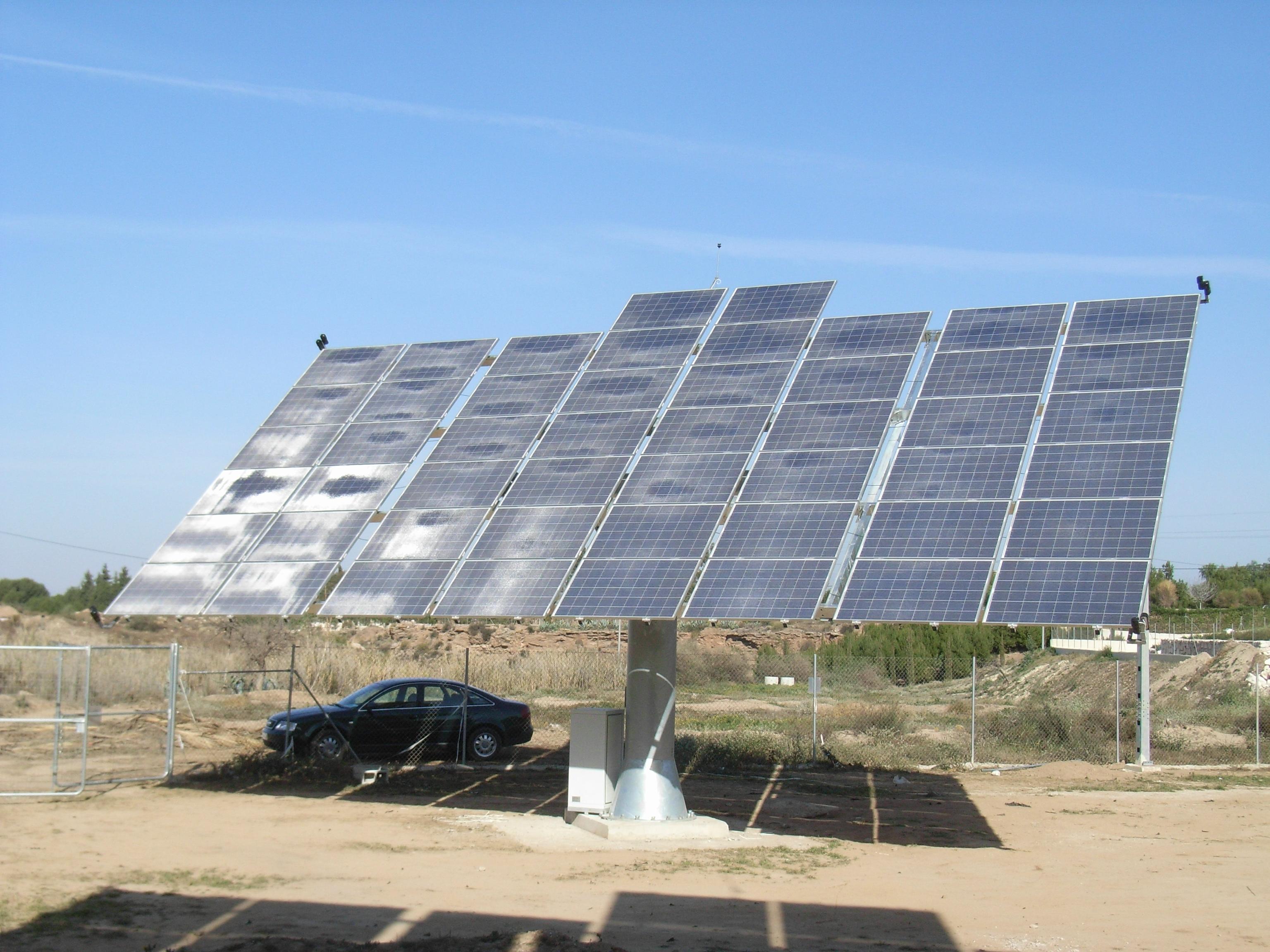 Instalaci n solar fotovoltaica con seguimiento arada for Instalacion fotovoltaica conectada a red