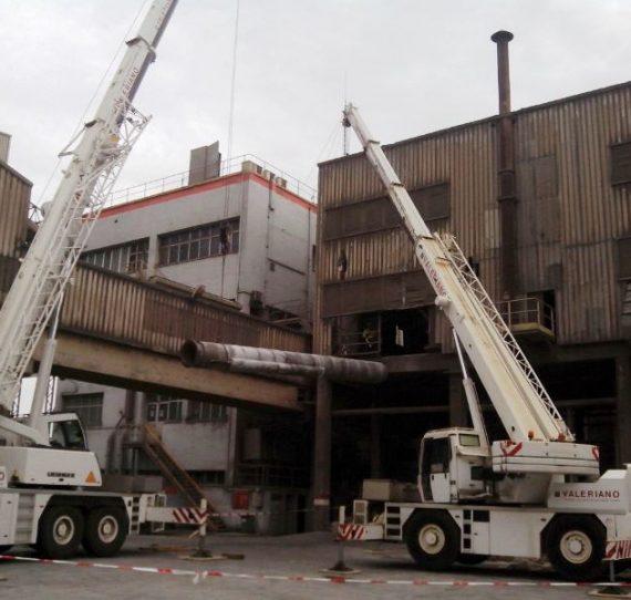 Parada de mantenimiento en fábrica de cemento de Carboneras. Año 2015.