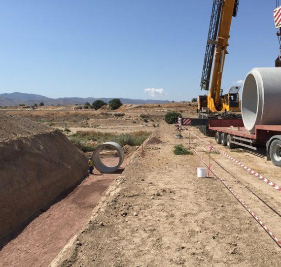 Encauzamiento brazal Matapollo, Lorca (Murcia)